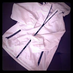 Michael Kors White Jacket Windbreaker NWT